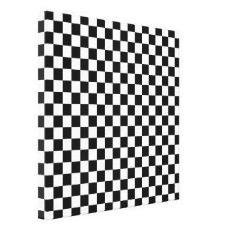 Teste padrão branco preto do abstrato do tabuleiro impressão em tela