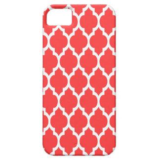 Teste padrão branco vermelho coral #4 de capa barely there para iPhone 5