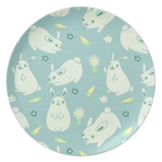 Teste padrão carnudo do coelho prato de festa