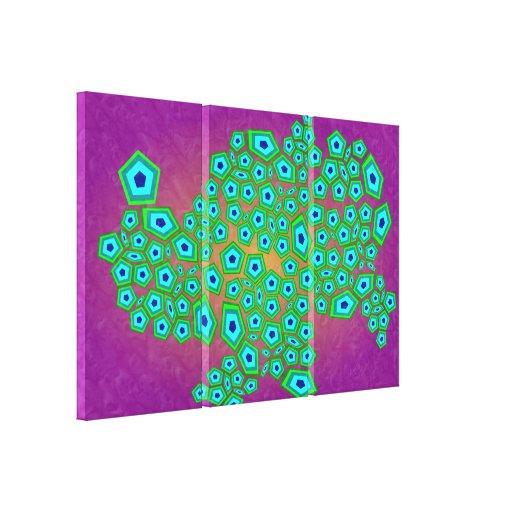 Teste padrão celular abstrato impressão de canvas envolvidas
