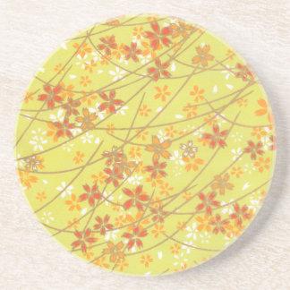 Teste padrão Chartreuse de Origami Porta Copos De Arenito