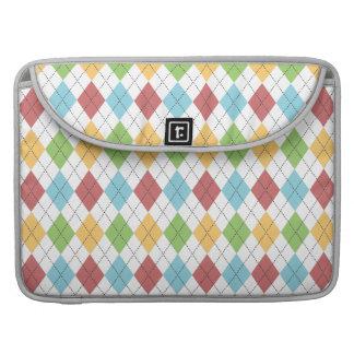 Teste padrão colorido clássico formal de Argyle Bolsa Para MacBook