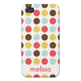 Teste padrão colorido das bolinhas modernas conhec capas iPhone 4