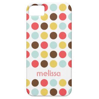 Teste padrão colorido das bolinhas modernas conhec capas iPhone 5 Case-Mate