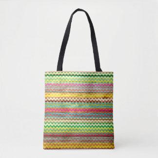 Teste padrão colorido de madeira moderno #2 de bolsas tote