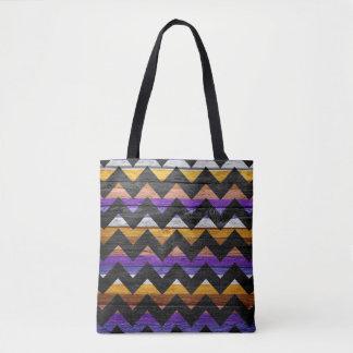 Teste padrão colorido de madeira moderno #30 de bolsas tote