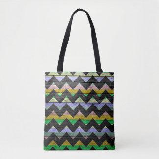 Teste padrão colorido de madeira moderno #35 de bolsas tote