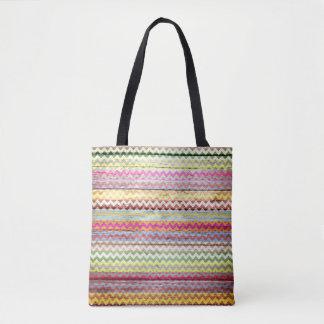 Teste padrão colorido de madeira moderno #5 de bolsas tote