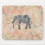 Teste padrão colorido do Henna do elefante tribal  Mouse Pad