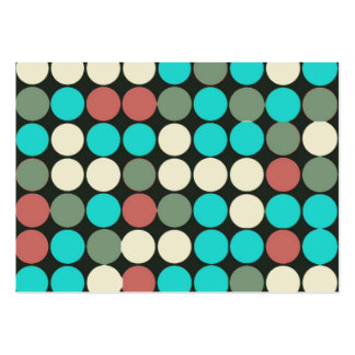 Teste padrão colorido dos círculos do vintage modelos cartão de visita