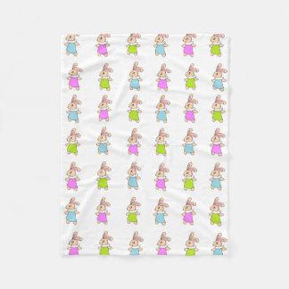 Teste padrão colorido dos coelhos de Maisy Cobertor De Lã