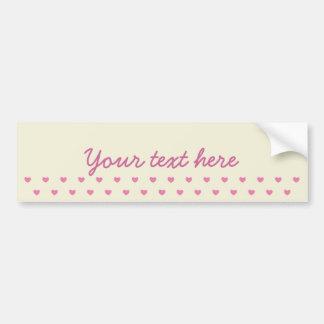 Teste padrão cor-de-rosa bonito dos corações adesivo para carro