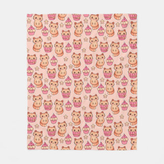 Teste padrão cor-de-rosa bonito dos gatos e dos cobertor de lã