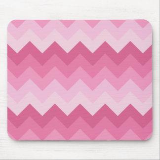 Teste padrão cor-de-rosa da viga mouse pad