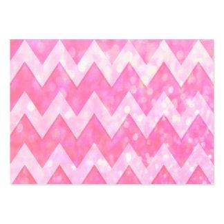 Teste padrão cor-de-rosa de Chevron do brilho Cartão De Visita Grande