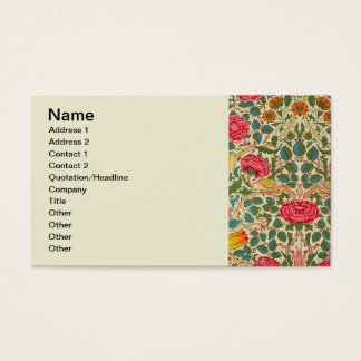 Teste padrão cor-de-rosa de chintz do vintage dos cartão de visitas