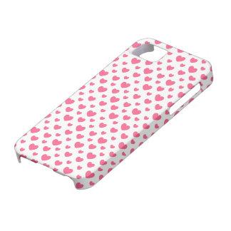 Teste padrão cor-de-rosa do coração capa para iPhone 5