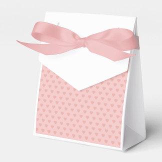 Teste padrão cor-de-rosa dos corações caixinha de lembrancinhas para festas
