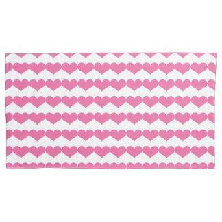 Teste padrão cor-de-rosa dos corações dos
