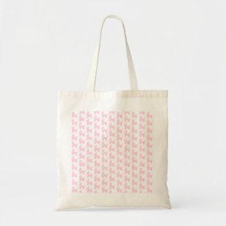 Teste padrão cor-de-rosa e branco da luz - de bebê bolsa para compra