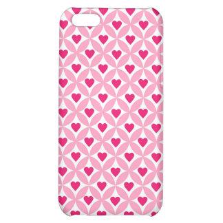 Teste padrão cor-de-rosa e vermelho dos corações d capa iphone5C