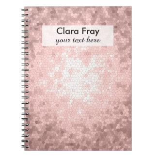 teste padrão cor-de-rosa feminino sofisticado cadernos espiral