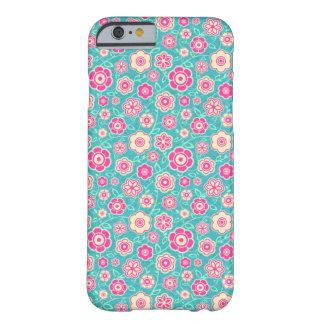 Teste padrão cor-de-rosa floral oriental legal do capa barely there para iPhone 6
