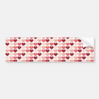 Teste padrão cor-de-rosa vermelho dos corações do adesivo para carro