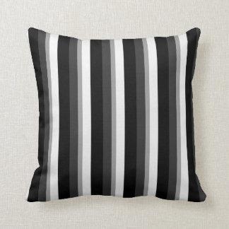 Teste padrão da listra (preto e branco) travesseiro de decoração