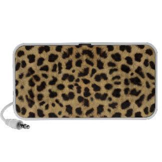 Teste padrão da pele da chita, impressão da chita caixinha de som para iPod