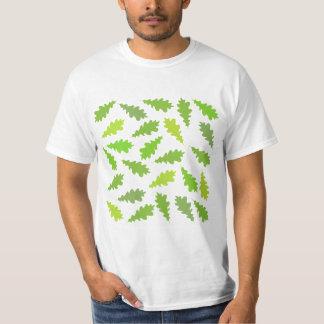 Teste padrão das folhas verdes tshirt