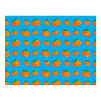 Teste padrão das laranjas dos azul-céu cartão postal