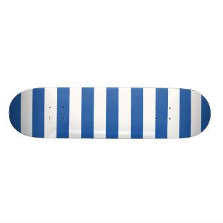 Teste padrão das listras de azuis cobaltos shape de skate 19,7cm