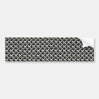 Teste padrão de aço da malha do metal (falso) adesivo para carro