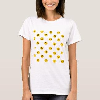 Teste padrão de bolinhas amarelo do smiley t-shirts