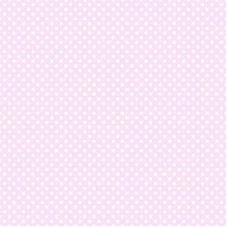Teste padrão de bolinhas branco cor-de-rosa na fotoesculturas