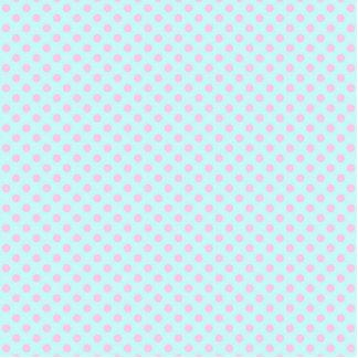 Teste padrão de bolinhas branco na moda do rosa de fotoescultura