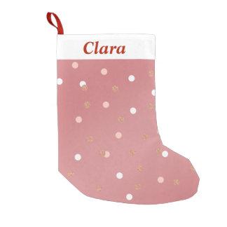 teste padrão de bolinhas cor-de-rosa elegante do bota de natal pequena