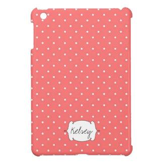 Teste padrão de bolinhas cor-de-rosa personalizado capa iPad mini
