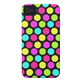 Teste padrão de bolinhas de néon do divertimento c capas de iPhone 4 Case-Mate