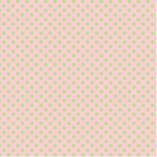 Teste padrão de bolinhas na moda do verde do rosa esculturafotos