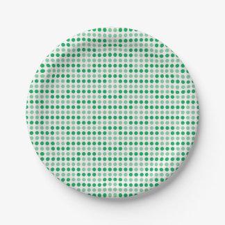 Teste padrão de bolinhas verde