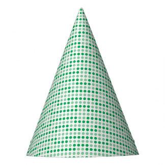 Teste padrão de bolinhas verde chapéu de festa