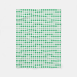 Teste padrão de bolinhas verde cobertor de velo