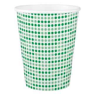 Teste padrão de bolinhas verde copo de papel