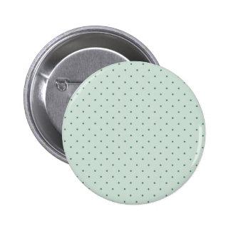 Teste padrão de bolinhas verde delicado em um bóton redondo 5.08cm