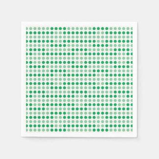 Teste padrão de bolinhas verde guardanapo de papel