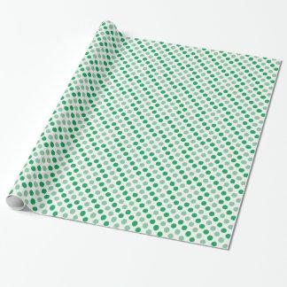 Teste padrão de bolinhas verde papel de presente