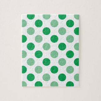Teste padrão de bolinhas verde quebra-cabeça