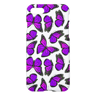 Teste padrão de borboleta roxo do monarca capa iPhone 7